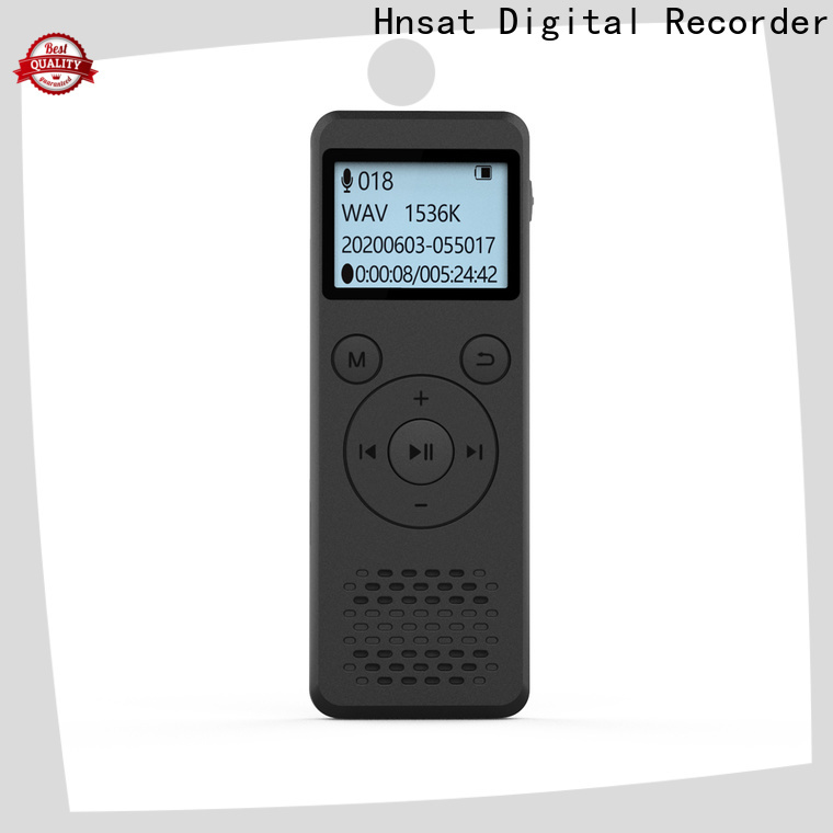 Hnsat Wholesale portable digital voice recorder factory for taking notes